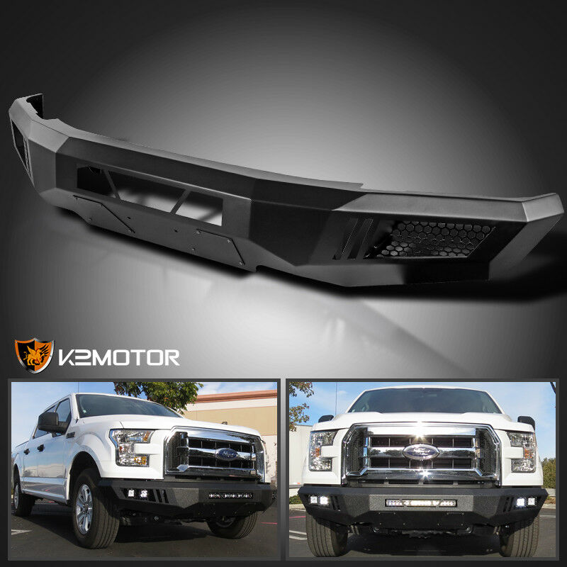 2015 2016 ford f150 raptor style black steel front bumper without led lights ebay for Ford f 150 exterior accessories