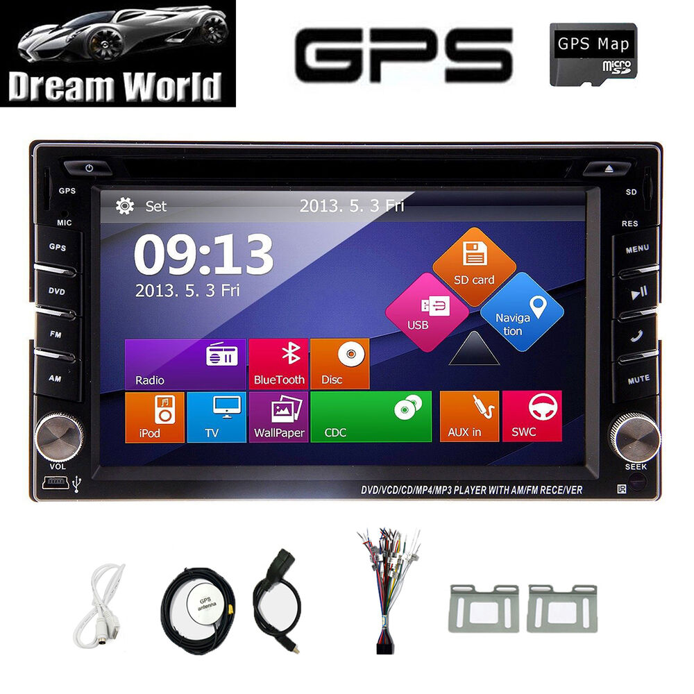 backup camera gps navi double 2 din car stereo radio dvd cd mp3 player bluetooth ebay. Black Bedroom Furniture Sets. Home Design Ideas