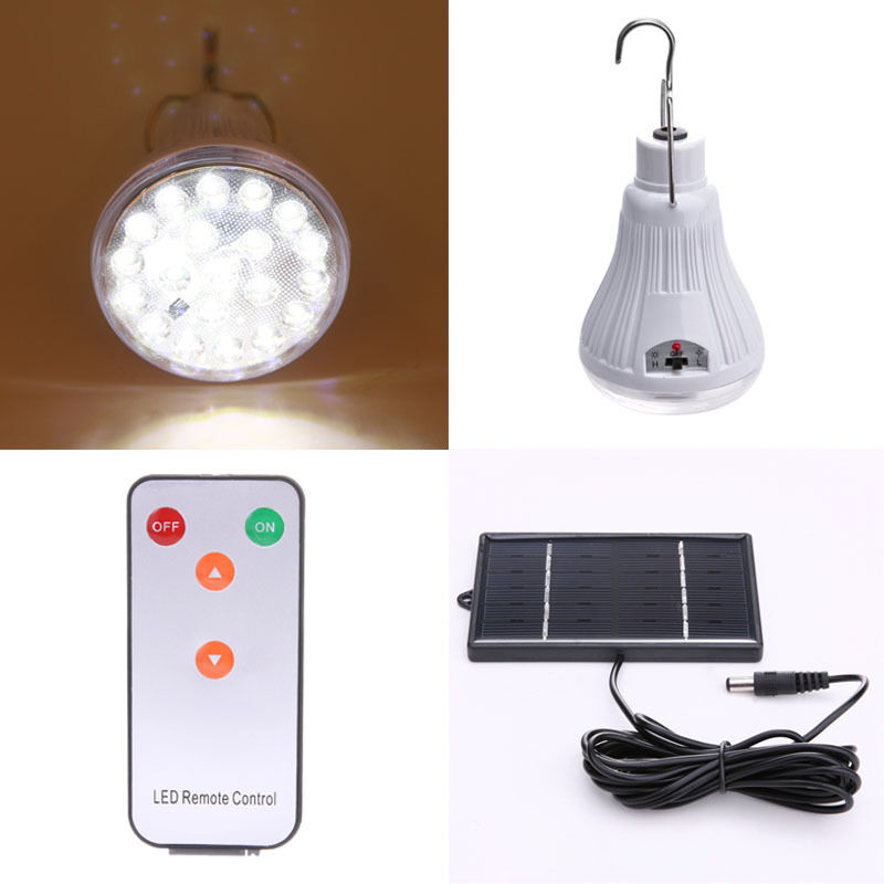 Outdoor Led Light With Remote: 20LED Outdoor/Indoor Shed Solar Lamp Hooking Camp Garden