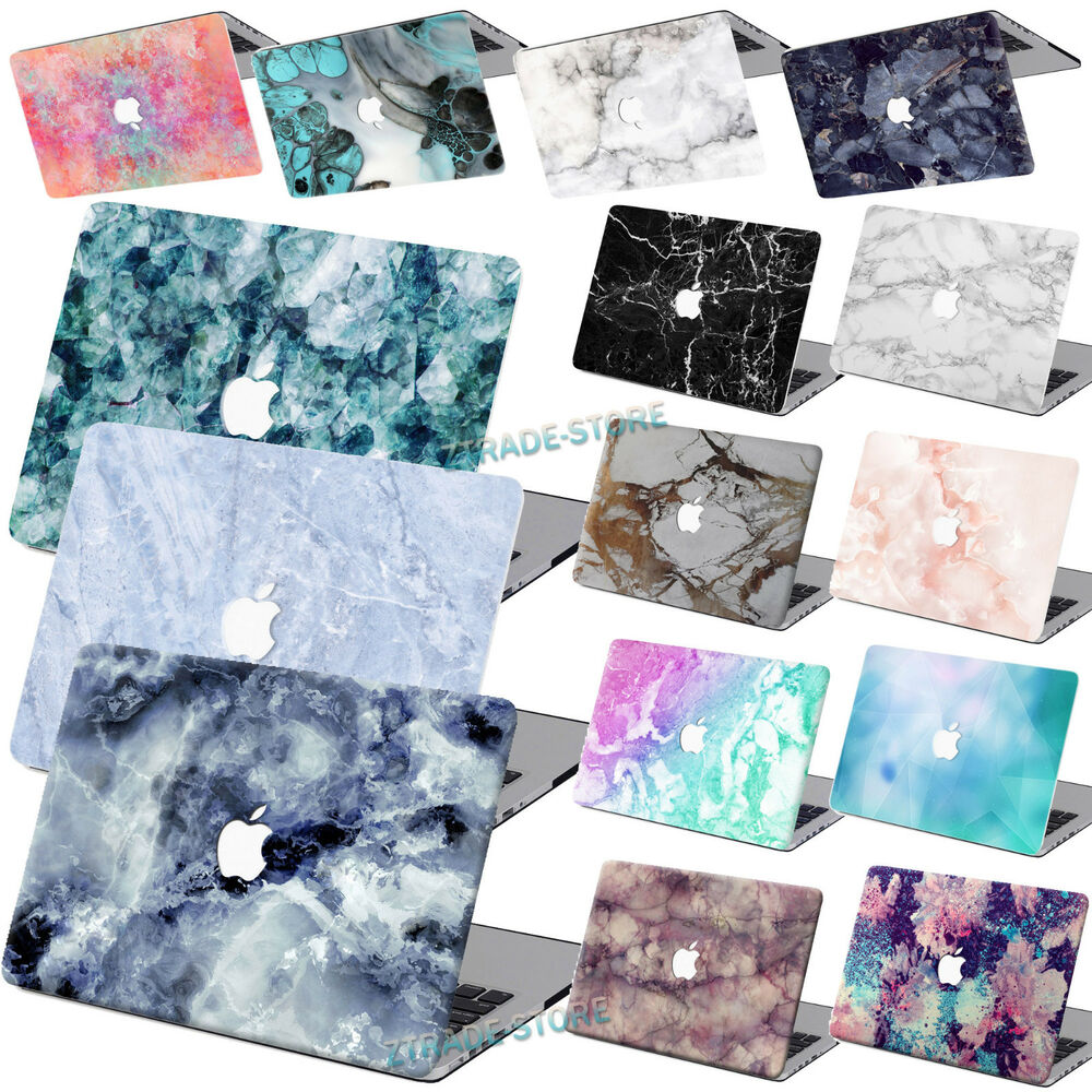 Rubberized Hard Case Marble Painted Laptop Cover For Macbook Air 11 Quot 12 Quot Pro 13 Quot 15 Ebay