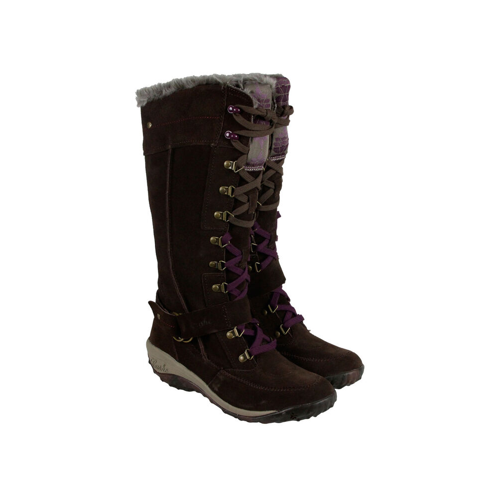 cushe allpine tundra womens brown purple suede casual