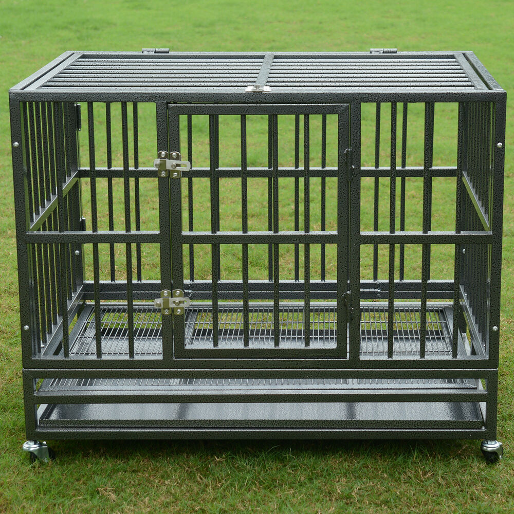 37 Quot 48 Quot Heavy Duty Strong Metal Pet Dog Cage Crate Kannel