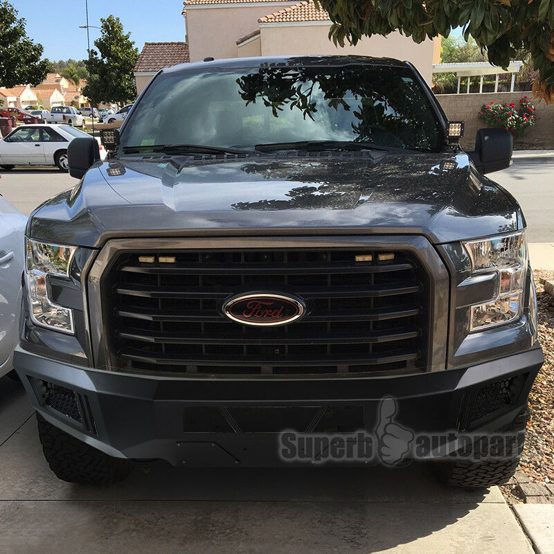 Ford F150 99: 2015-2016 Ford F150 Front Bumper High Quality Black Steel