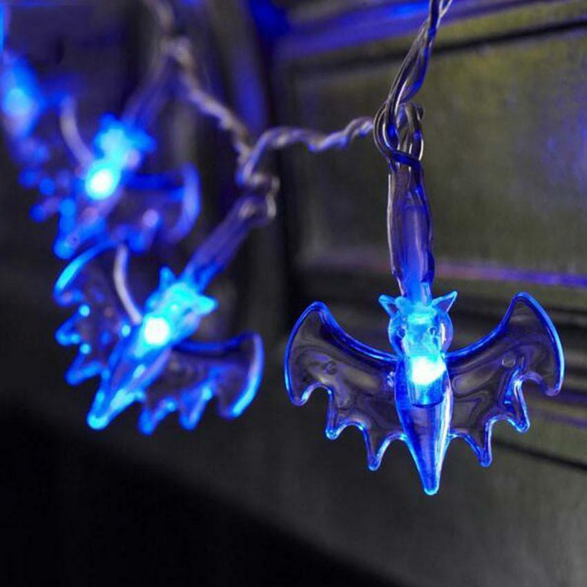 Novelty 10/20 LED Bats Blue/Rose String Lights Battery Operated Gothic Halloween eBay