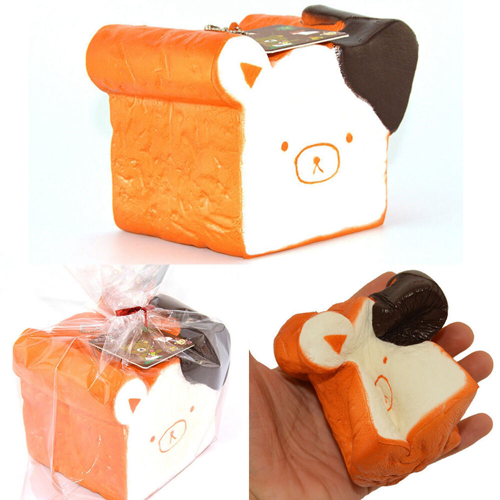 Squishy Jumbo Toast : 11cm Jumbo Squishy Kawaii Relax Bear Toast Slow Rising Cellphone Straps no Tag eBay