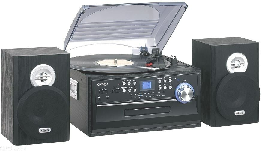 turntable record player mp3 cd r rw cassette radio stereo home audio system ebay. Black Bedroom Furniture Sets. Home Design Ideas