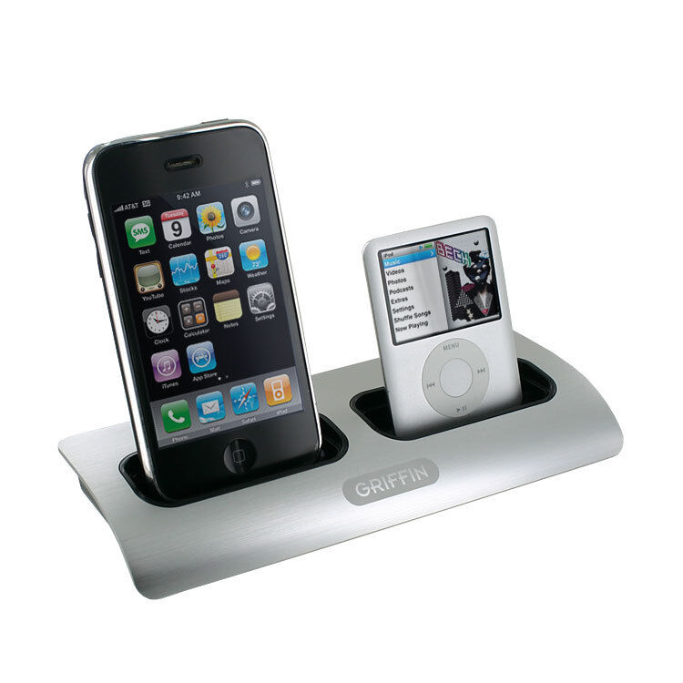 dual iphone charger griffin powerdock dual position charging station for ipod 10521