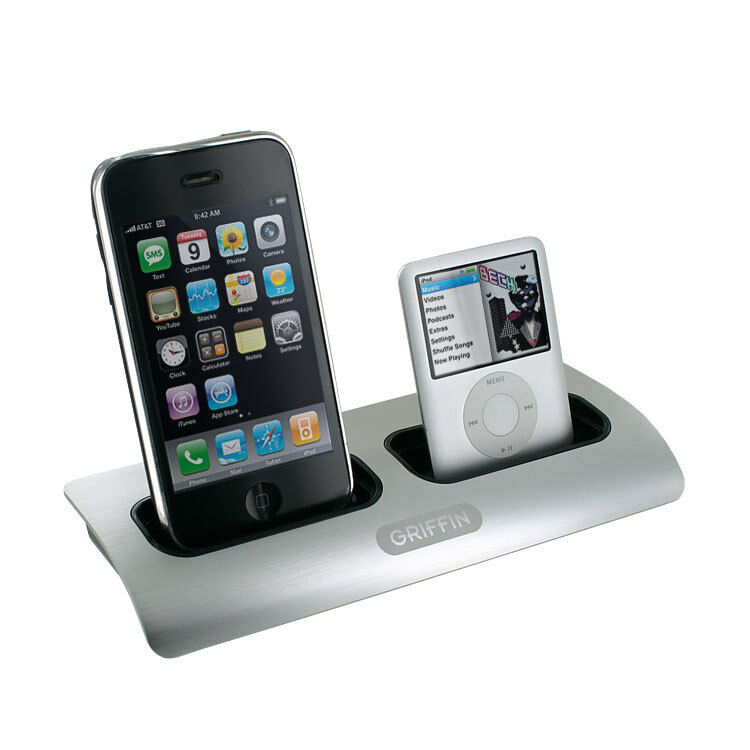 iphone charging station griffin powerdock dual position charging station for ipod 11746