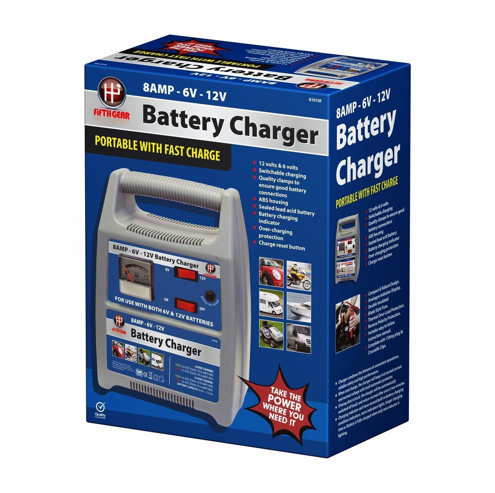Small Car Battery : Amp battery charger v compact portable car motorbike
