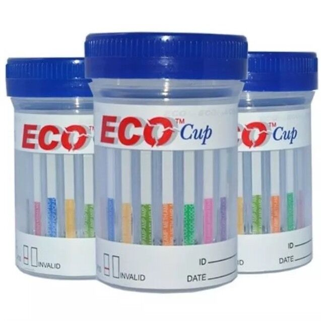 25 Cups 5 Panel Eco Cup Multi Drug Test Bzo Coc Mamp Opi