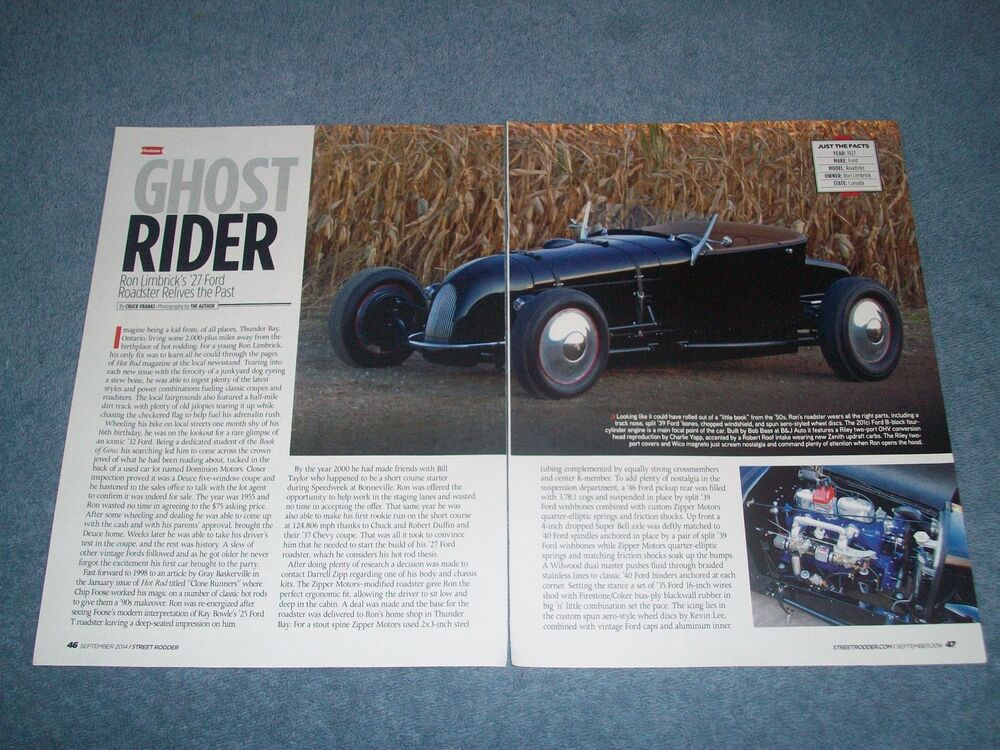"""Sell New 1924 Ford Track T Roadster In Northern: 1927 Ford Model T 50's Track Roadster Article """"Ghost Rider"""