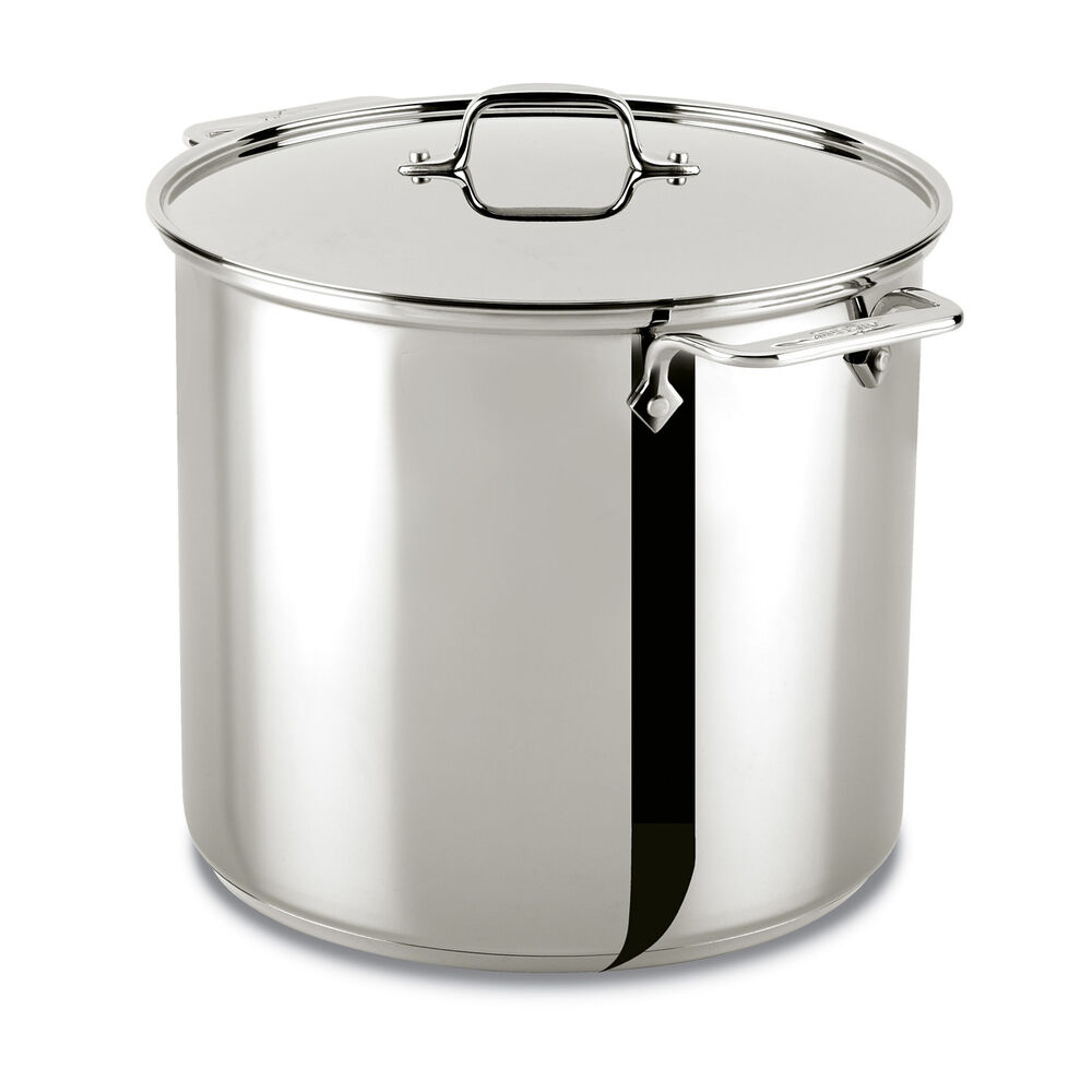 All Clad Stainless Steel 16 Quart Stockpot With Lid Ebay