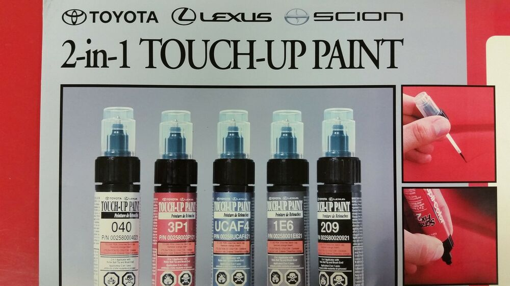 LEXUS GX460 TOUCH UP PAINT TUBE COLOR CODE 1H9 NEBULA GREY ...