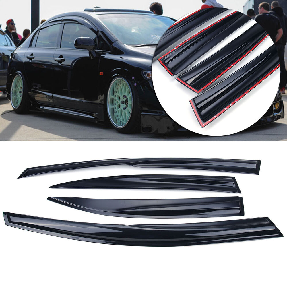 window vent rain guard visor deflector for honda civic 4 door sedan 2006