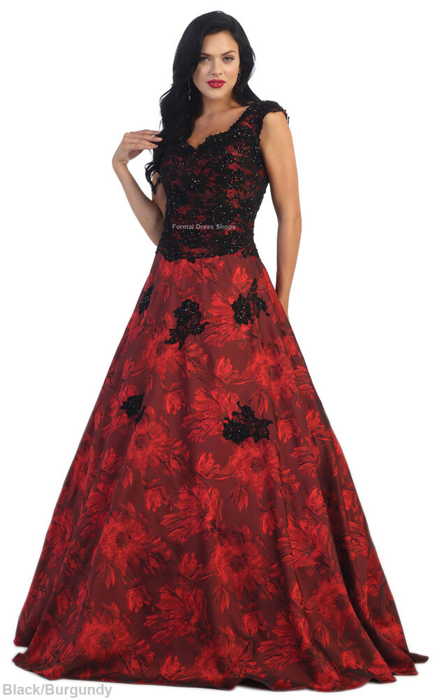 Cap Sleeve Red Carpet Evening Gown Pageant Prom Formal Dance Floral