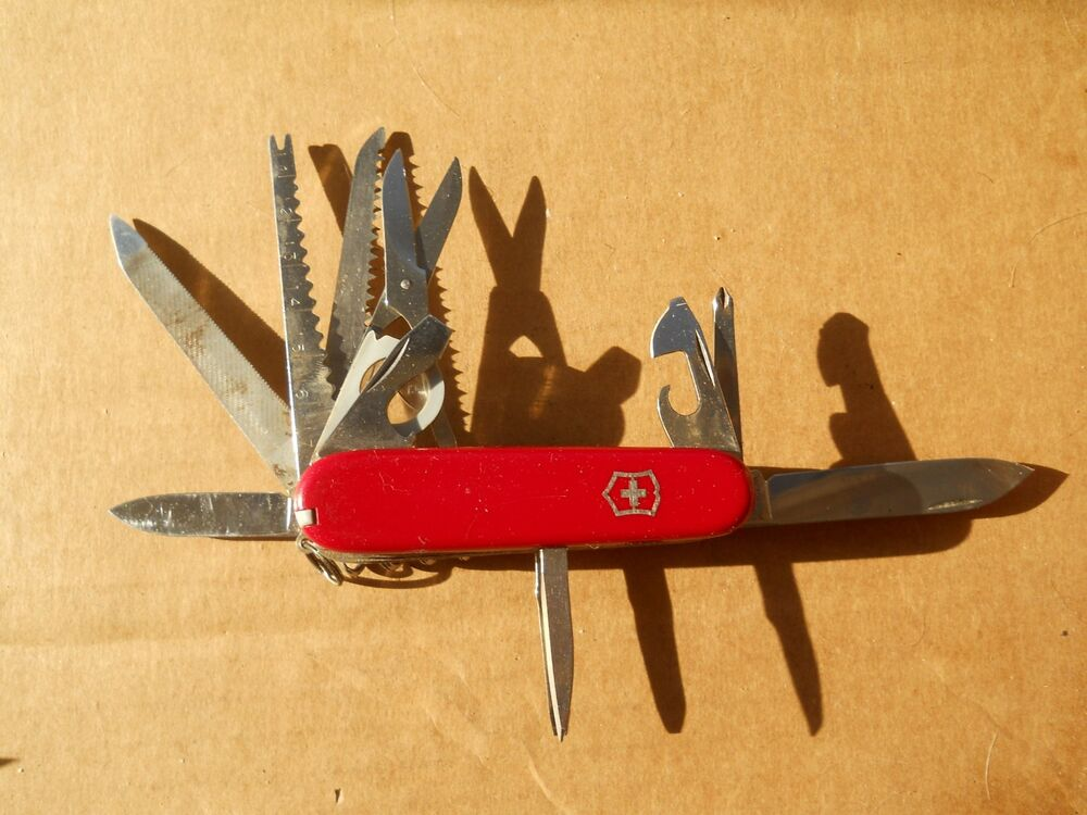 Victorinox Champion Swiss Army Knife In Red Old Glass
