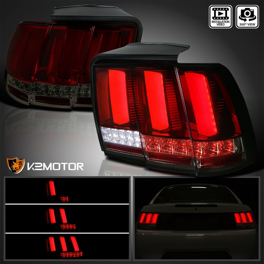1999 2004 ford mustang red smoke lens sequential led tail lights brake. Black Bedroom Furniture Sets. Home Design Ideas