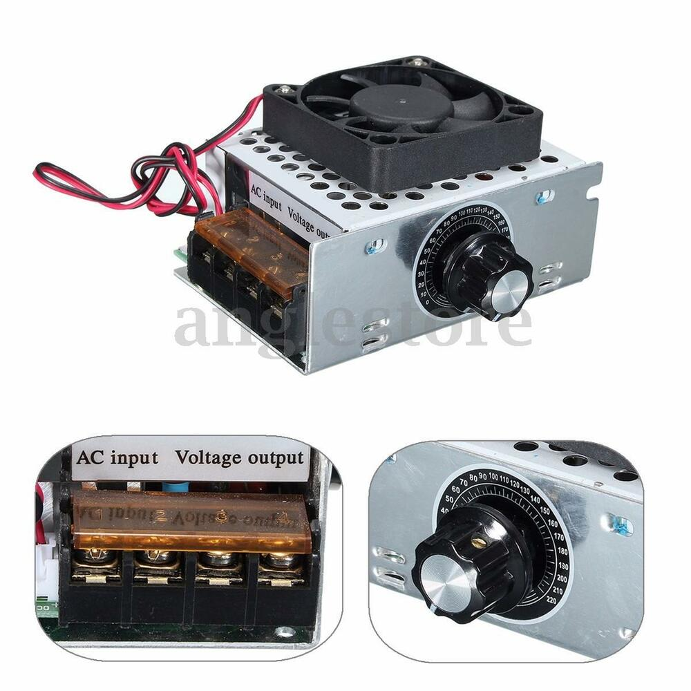 4000w ac 0 220v voltage regulator motor speed controller for Ac speed control motor