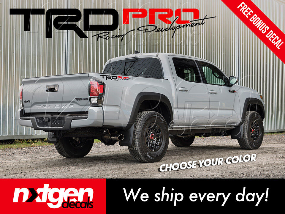 X TRD PRO Toyota Tacoma Tundra Vinyl Bed Side Decals - Vinyl decals for race carspopular trd vinyl decalbuy cheap trd vinyl decal lots from china