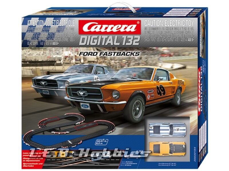 carrera digital 132 ford fastbacks slot car race set 30194. Black Bedroom Furniture Sets. Home Design Ideas