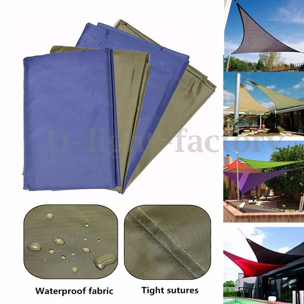 Sun shade sail water resistant garden patio awning canopy for Colorado shade sail