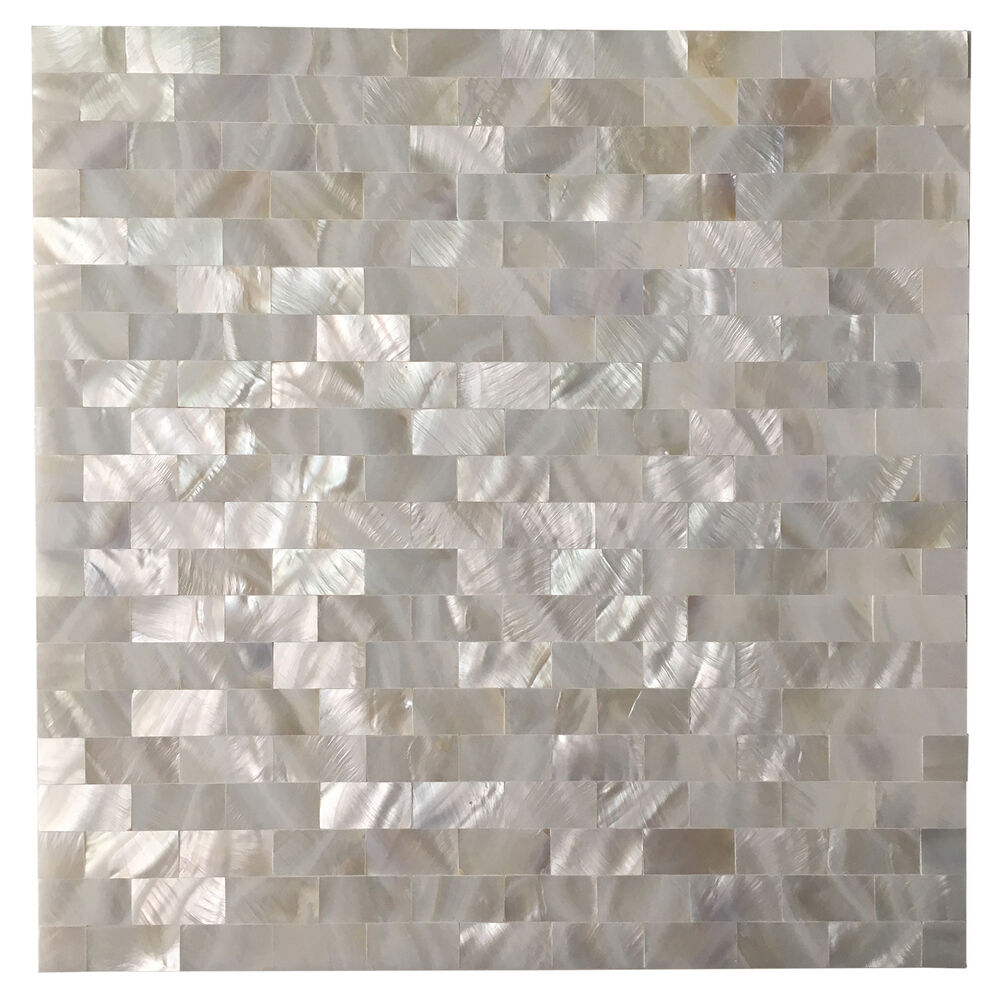 Peel And Stick Mother Of Pearl Shell Mosaic Tile For