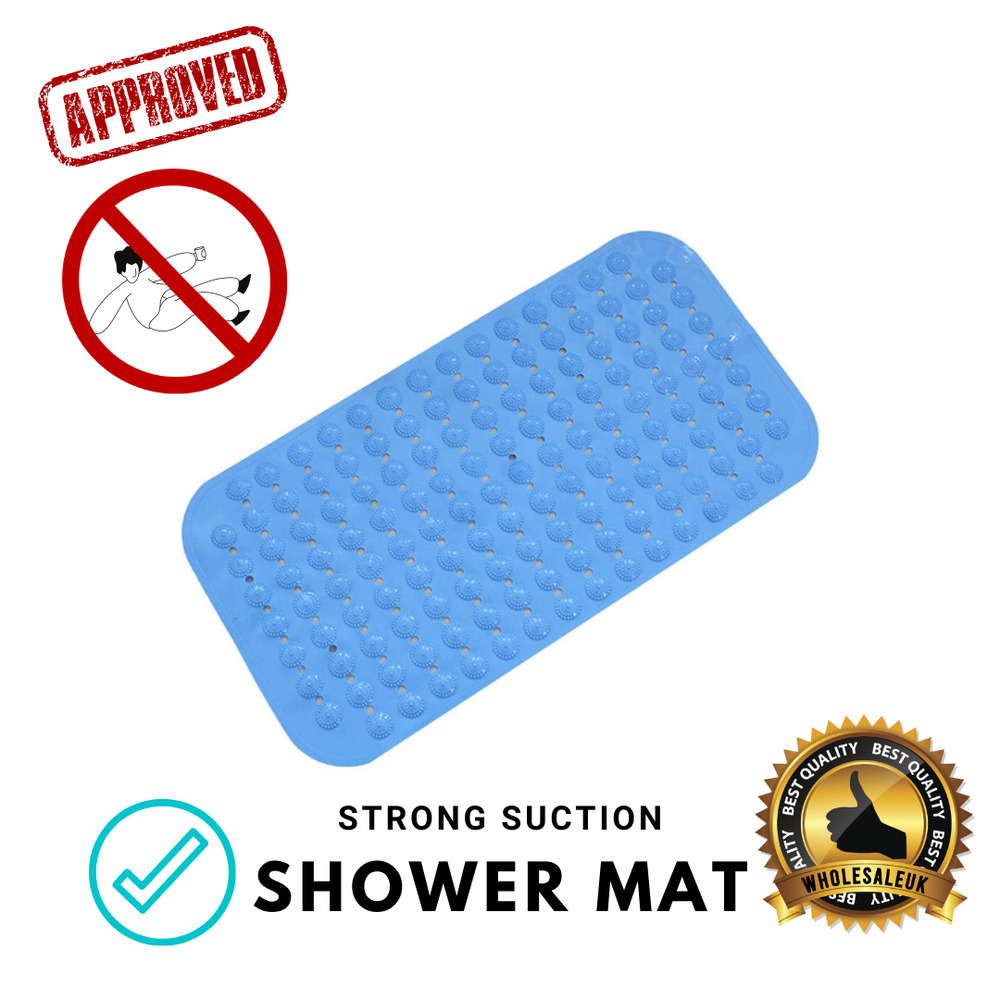 Blue Quality Large Strong Suction Anti Non Slip Bath