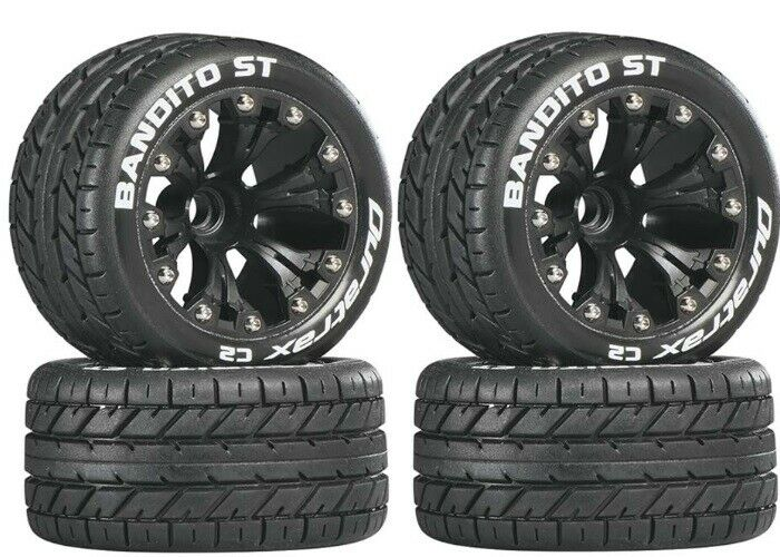 Duratrax Mounted Bandito St Street Tires Wheels 4 Electric