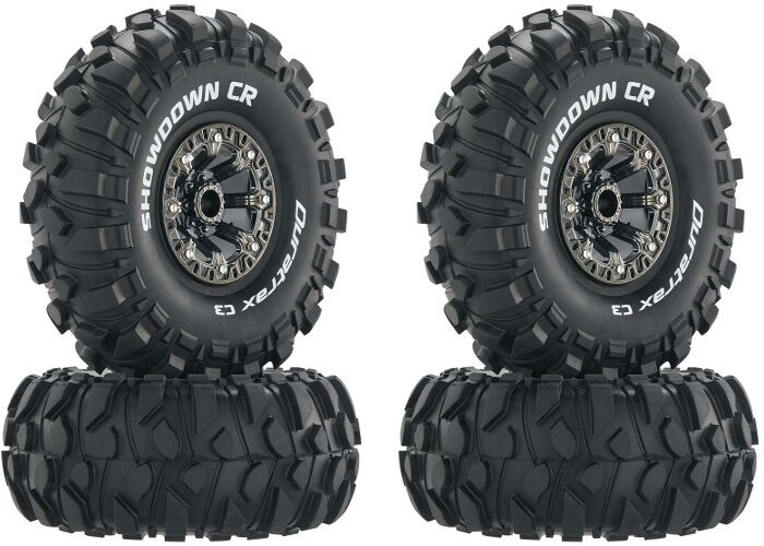 "Duratrax Showdown CR C3 2.2"" Mounted Tires Wheels (4) Rock ..."
