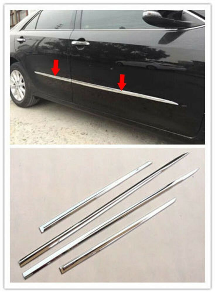 Abs Chrome Body Door Side Molding Cover Trim Garnish For