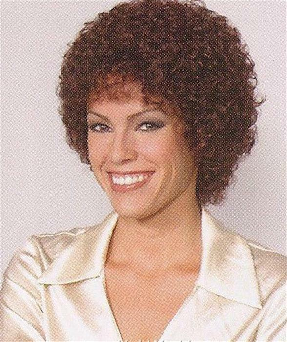 Dark Auburn Short Wig W Medium Tight Curls Sandra Ebay