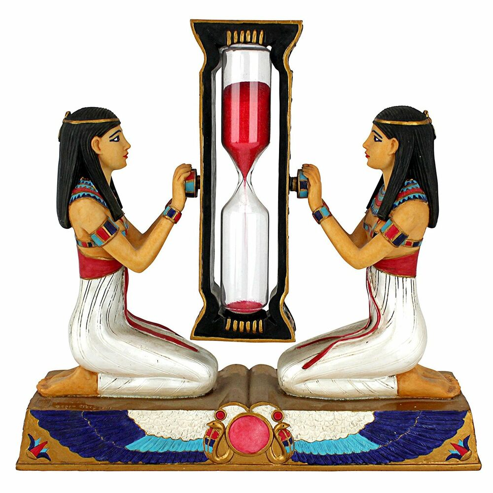 Hourglass red sand timer watch clock sandglass ancient for Egyptian decorations for home