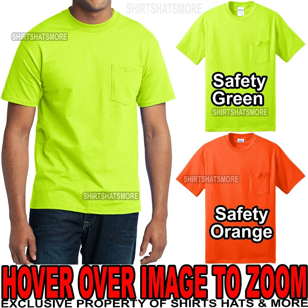 Mens Tall High Visibility Cotton Poly Safety Green Orange