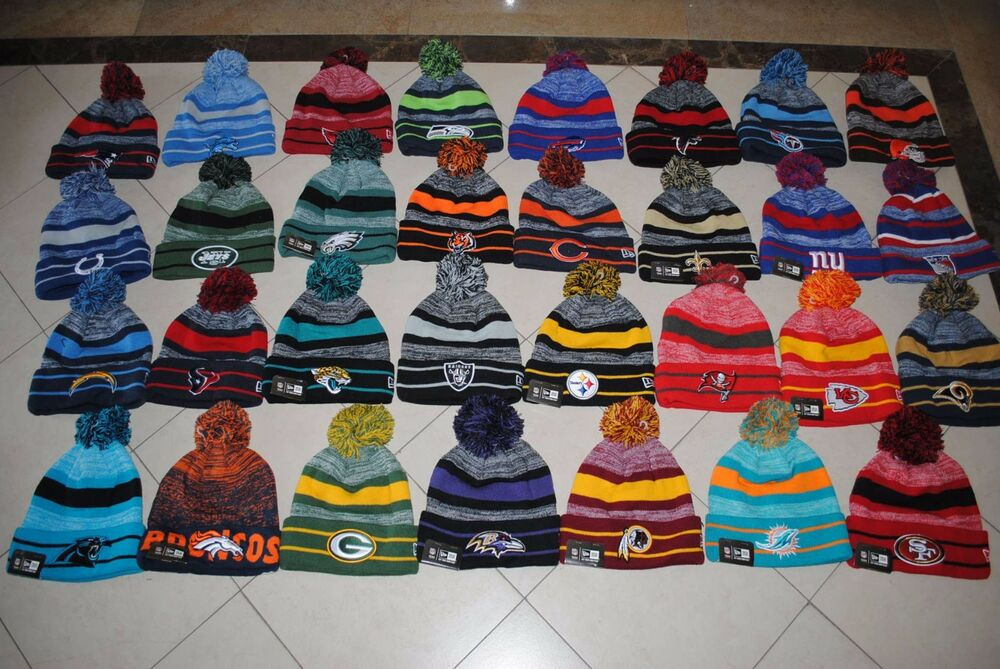 aa758bf7ac1 Details about New NFL SPORT TEAM KNIT Football Cap cuff winter Beanie with  Pom OSFM