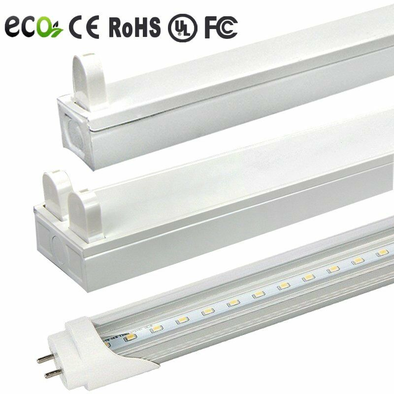 Led Garage Light Fixtures Costco: 18w 36w 4ft Garage Troffer Shop Light Fixture With LED T8