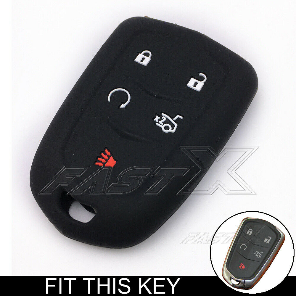 5 Buttons Car Silicone Remote Key Fob Case Cover For