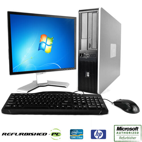 Clearance fast hp compaq desktop windows 7 or xp computer for 2 window in 1 pc