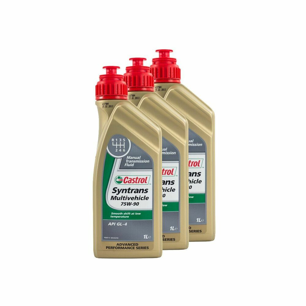 castrol syntrans multivehicle 75w90 api gl4 fully synthetic gear oil 3 litre ebay. Black Bedroom Furniture Sets. Home Design Ideas