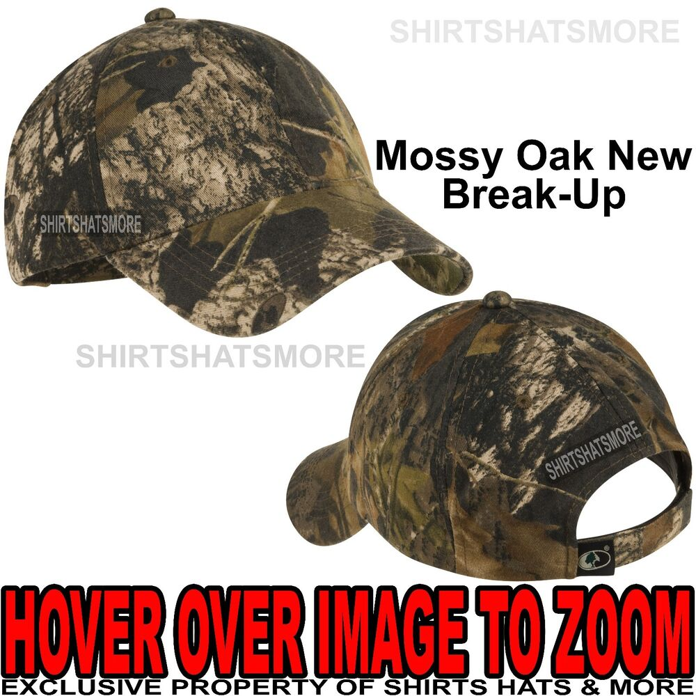 2ceb64495ec71 Details about Mens Camo Baseball Hat Mossy Oak Break Up Unstructured  Garment Wash Cap Hunting