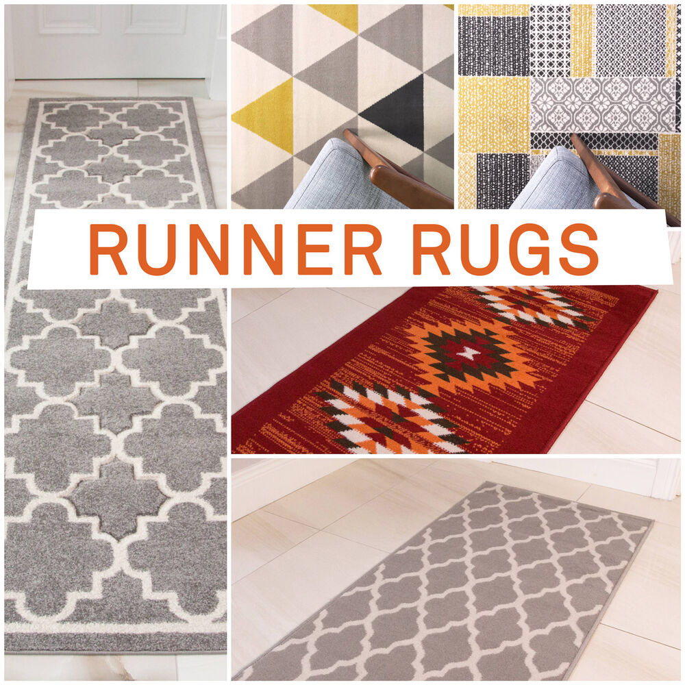 Machine Washable Rug Runners Large Small Door Mats Non