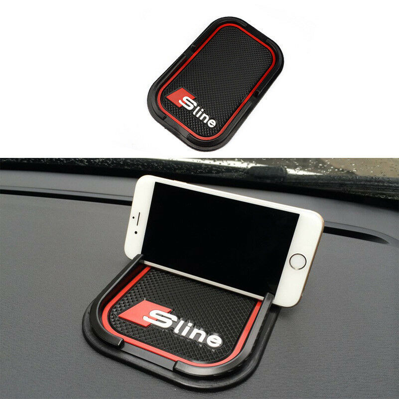 1 car black 3d anti slip rubber phone mat pad gps support holder for audi s line ebay. Black Bedroom Furniture Sets. Home Design Ideas