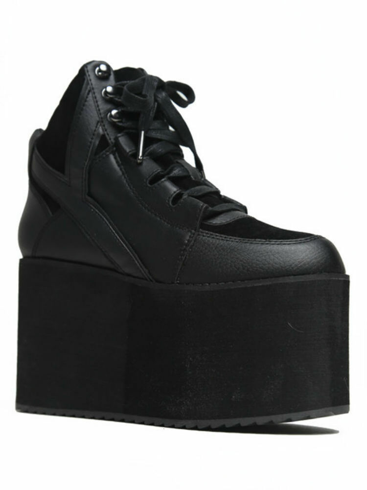 yru qozmo rocker fashion high black platform vegi