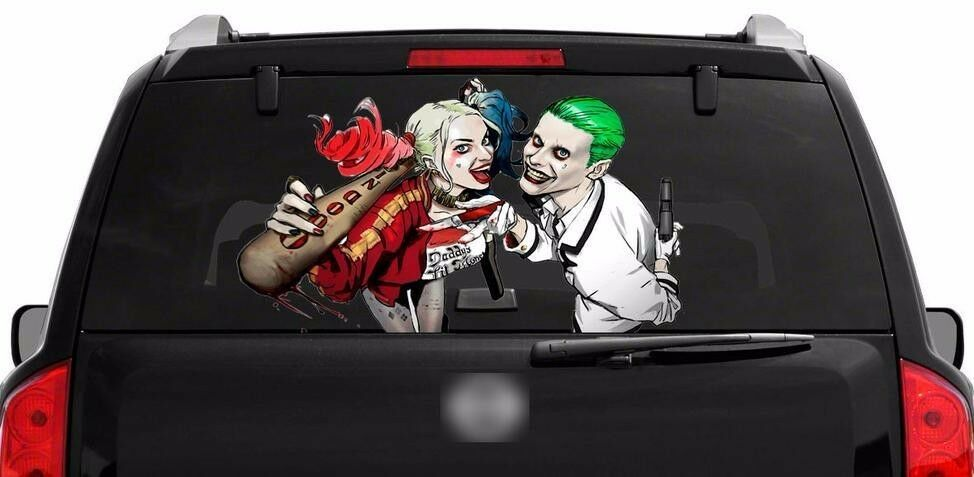 Harley Quinn Joker Rear Window Graphics Decal 40 X22