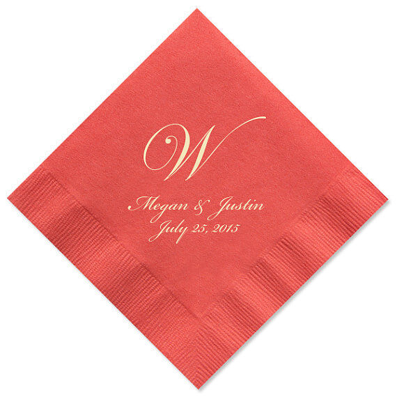 100 personalized napkins monogram wedding 3 ply napkins cocktail beverage