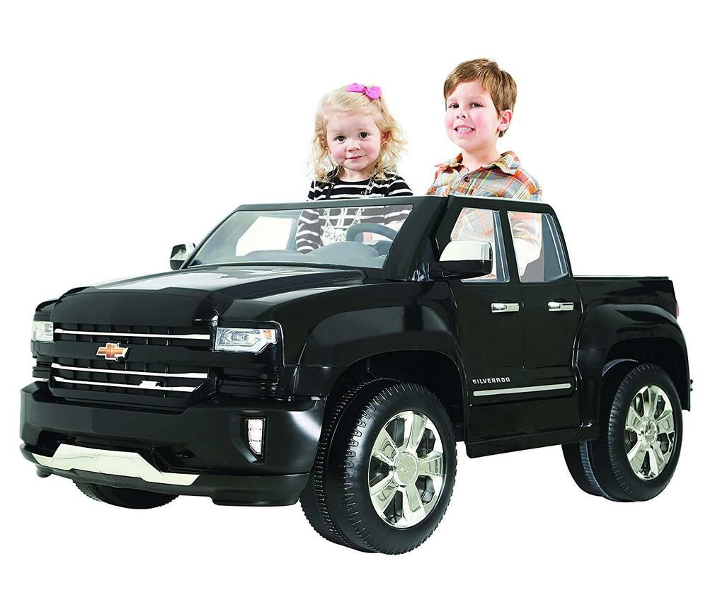 Battery Operated Ride On Toys >> Chevy Silverado 12V Battery Power Ride-On 2 Child Seat Toy ...