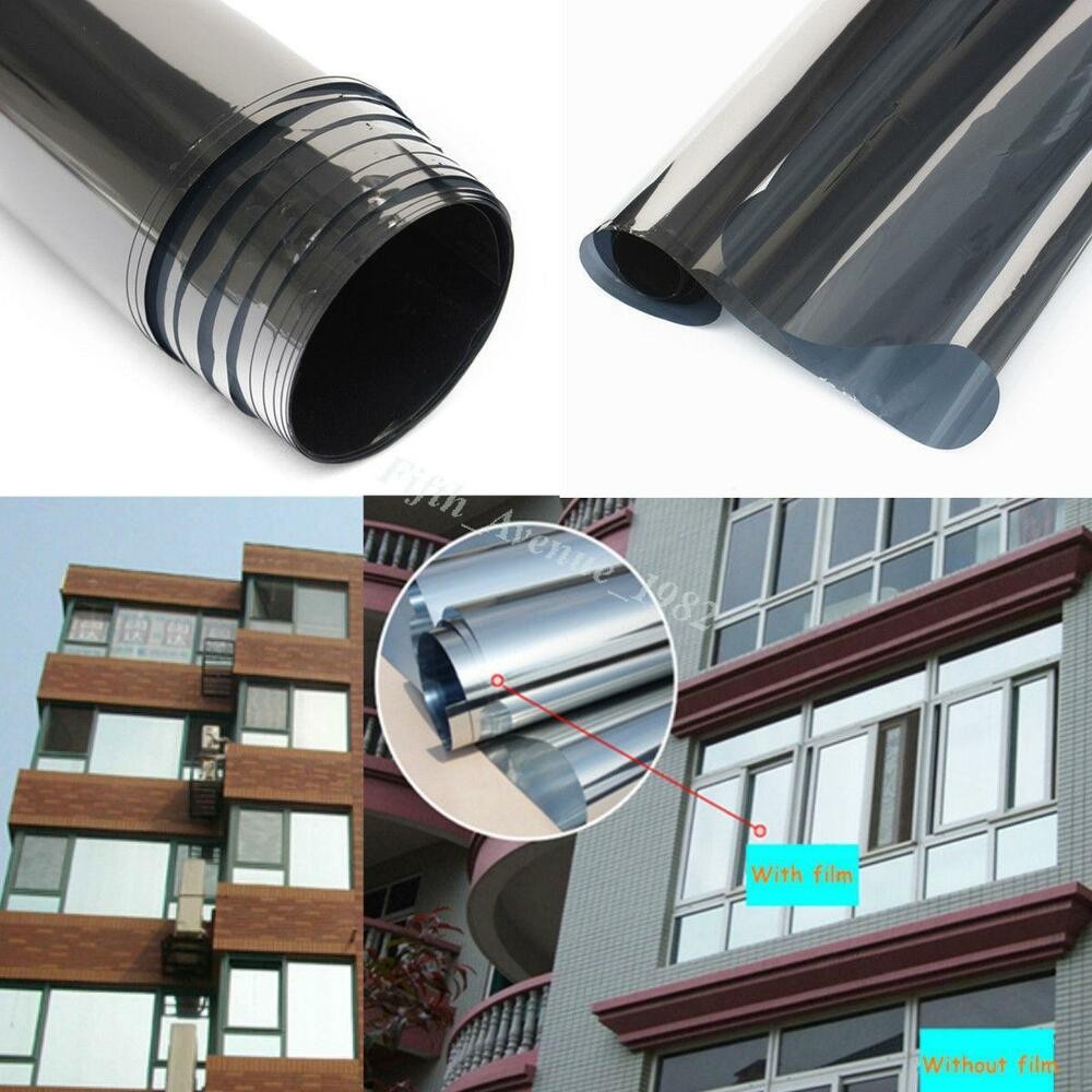 Window tint film roll mirror glass one way solar for Window tint film