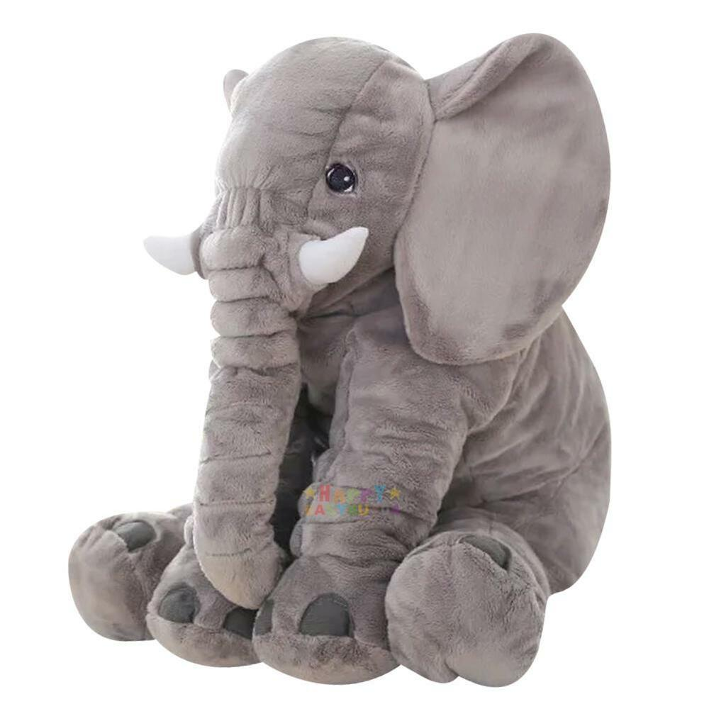 Grey Large Elephant Pillows Cushion Baby Plush Toy Stuffed