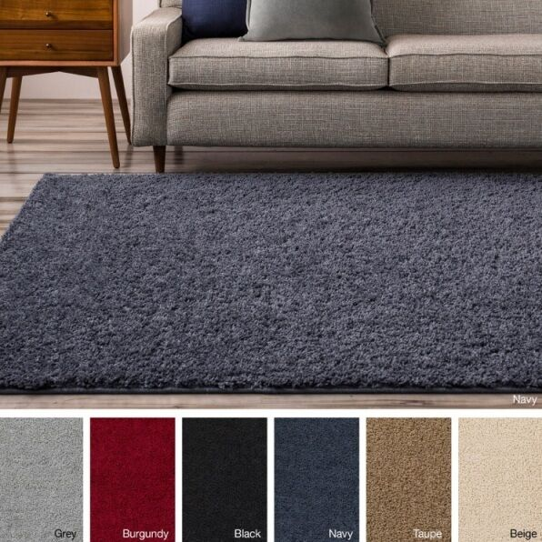 9 X 12 Shag Area Rug Rugs Black Brown Gray Navy Beige