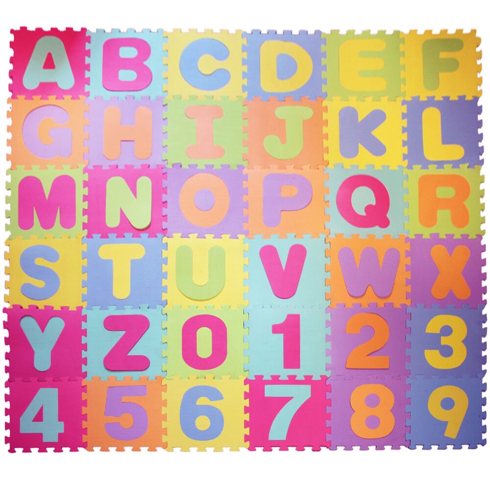 Rubber floor mats baby - 30x30cm Large Foam Eva Floor Mat Jigsaw Tiles Alphabet Numbers Kids Child Puzzle