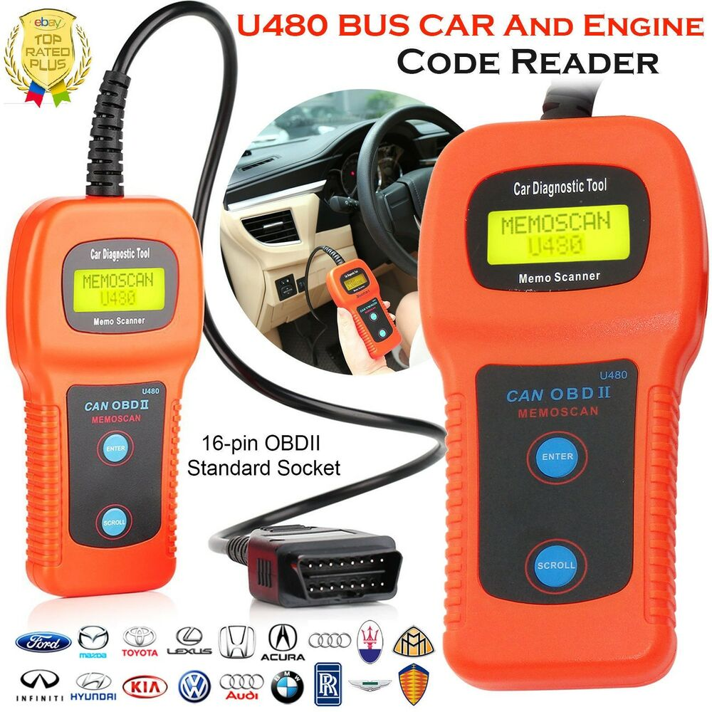 U480 Scanner Car Fault Code Reader CAN BUS OBD2 EOBD